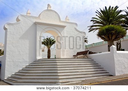 Lanzarote Teguise white and stone village in Canary Islands