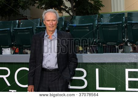 "LOS ANGELES - SEP 19:  Clint Eastwood at the ""Trouble With The Curve"" Los Angeles Premiere at Village Theater on September 19, 2012 in Westwood, CA"