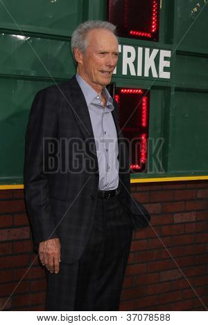 """LOS ANGELES - SEP 19:  Clint Eastwood arrives at the """"Trouble With The Curve"""" Los Angeles Premiere at Village Theater on September 19, 2012 in Westwood, CA"""