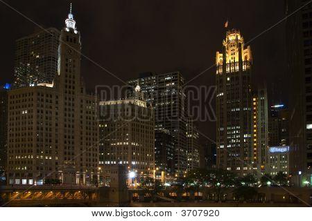 Tribune Tower And Wrigley Building Near Michigan Av Bridge