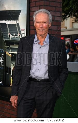 "LOS ANGELES - SEP 19:  Clint Eastwood arrives at the ""Trouble With The Curve"" Los Angeles Premiere at Village Theater on September 19, 2012 in Westwood, CA"