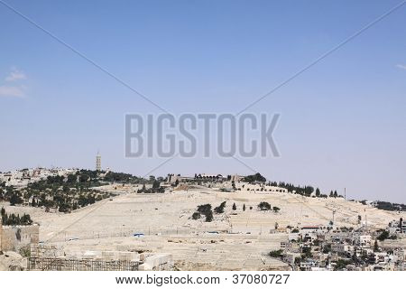 view of Mt. Olives Jerusalem, Israel