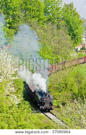steam freight train, Durdevik, Bosnia and Hercegovina
