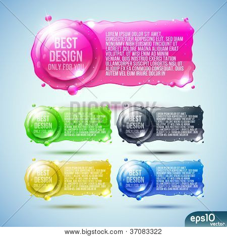 Abstract  speech bubble (colorful banner)