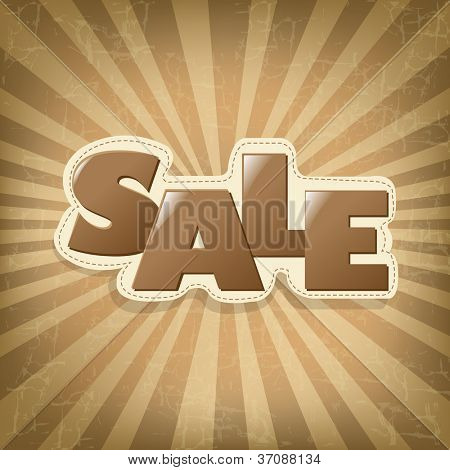 Vintage Poster Sale, Vintage Sumburst, Vector Illustration