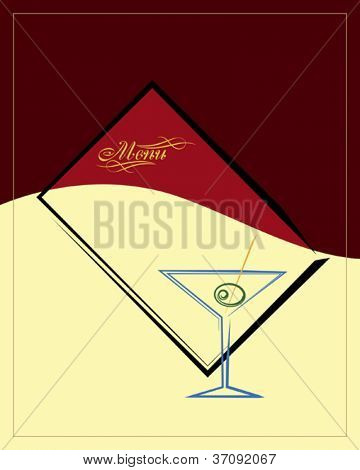 Martini Menü-Design-Template
