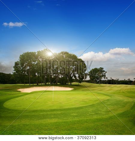 Golf course on island Bali