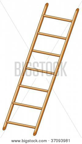 illustration of ladder on white background