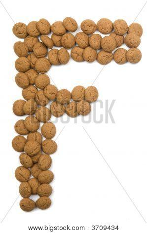 Ginger Nut Alphabet F