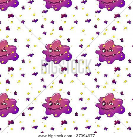 illustration of purple monsters on a white background