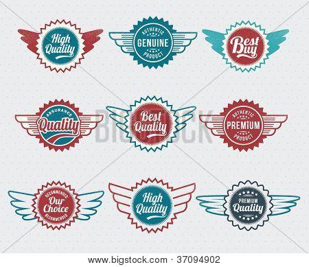 Retro, vintage, Badge and label vector icon logo design