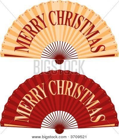 Christmas Fan.Eps