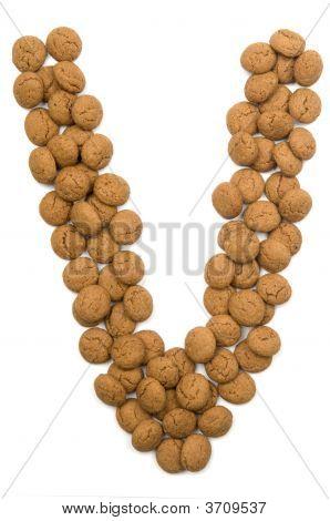 Ginger Nut Alphabet V