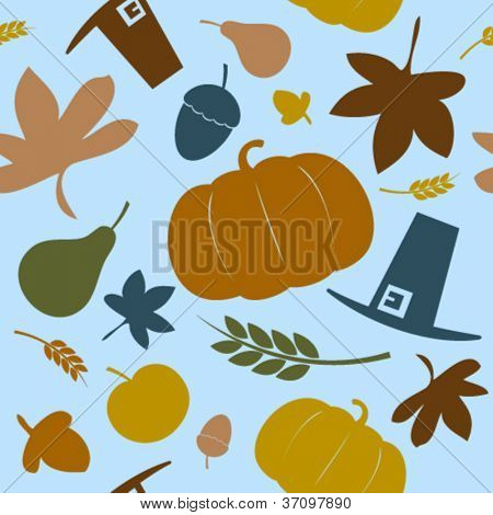 Autumn seamless background, Thanksgiving day.