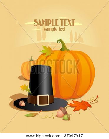 Thanksgiving Design template with place for text.