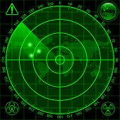 pic of biohazard symbol  - Illustration of radar screen as a security tool - JPG