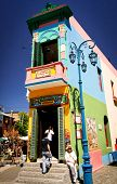 BUENOS AIRES - FEB 14: Landmark corner of Caminito Street in La Boca on February14, 2009 in Buenos A
