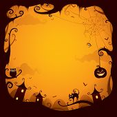 picture of vines  - Halloween border for design - JPG