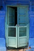 stock photo of courtier  - Traditional indian door - JPG