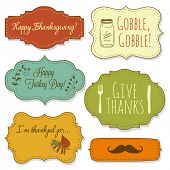stock photo of gratitude  - Happy Thanksgiving frames - JPG