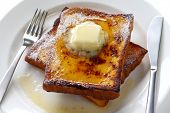 image of french toast  - egg nog french toast - JPG