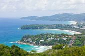Aerial view landscape of Bay and tropical beach,kata karon and  katanoi, in Phuket Thailand