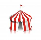 stock photo of circus tent  - Full color illustration of a circus tent - JPG