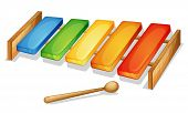 pic of idiophone  - illustration of xylophone on a white background - JPG