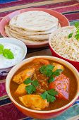 image of raita  - Chicken Rogan Josh with natural rice - JPG