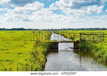 Dutch Landscape With Canal
