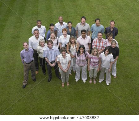 Group of business people standing outside
