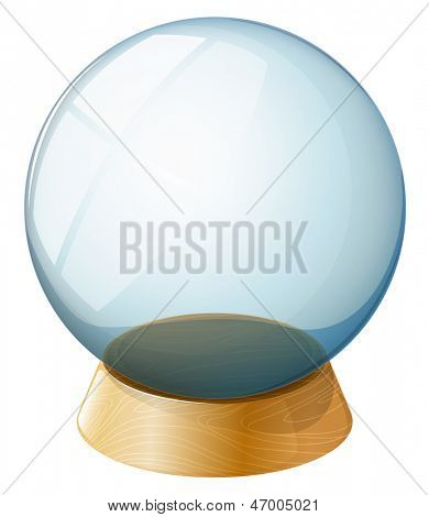 Illustration of a transparent dome on a white background
