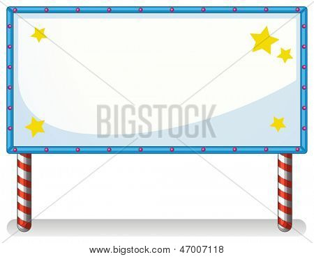 Illustration of a white board with series lights on a white background