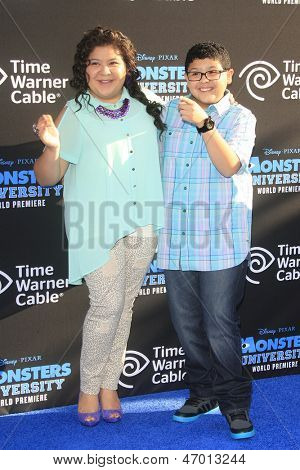 LOS ANGELES - JUN 17: Raini Rodriguez, Rico Rodriguez at The World Premiere for 'Monsters University' at the El Capitan Theater on June 17, 2013 in Los Angeles, California