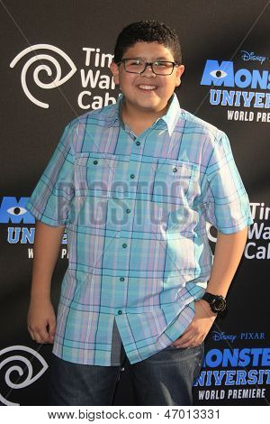 LOS ANGELES - JUN 17: Rico Rodriguez at The World Premiere for 'Monsters University' at the El Capitan Theater on June 17, 2013 in Los Angeles, California
