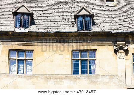 facade of house, Chipping Camden, Gloucestershire, England