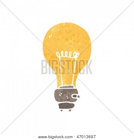 retro cartoon light bulb symbol