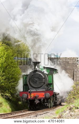 steam locomotive, Strathspey Railway, Highlands, Scotland
