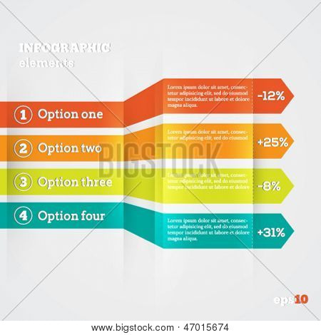 Abstract paper template for infografics