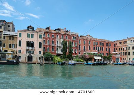 Grand Canal In Center Of Venice