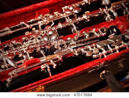 Oboe and English Horn in red velvet case