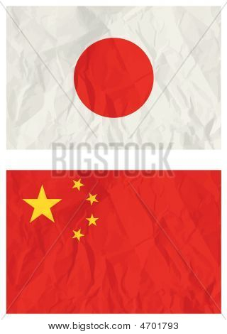 Japanese And China Banners, Vector Illustration