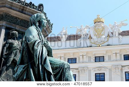 Detail Of The Monument To Kaiser Franz I Against The Hofburg In Vienna