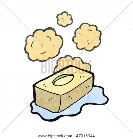 retro cartoon slippery soap