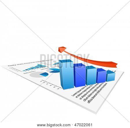 Finanzbericht mit Diagramm