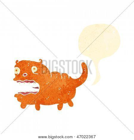 retro cartoon farting cat