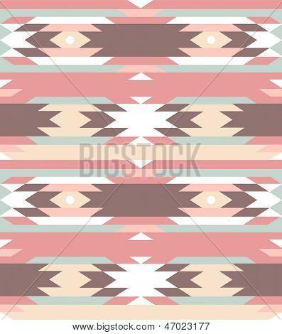 Patrones geométricos sin fisuras en estilo Azteca