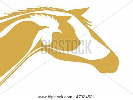 Orange veterinary emblem