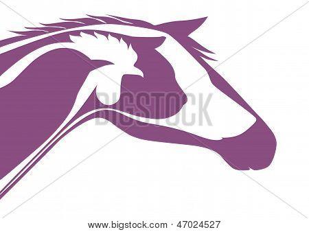 Purple veterinary emblem