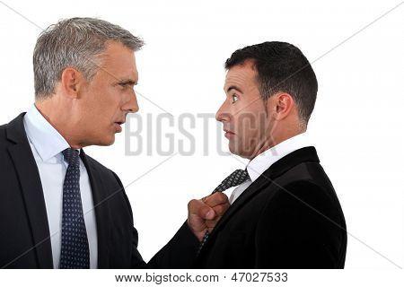 Businessmen having an argument